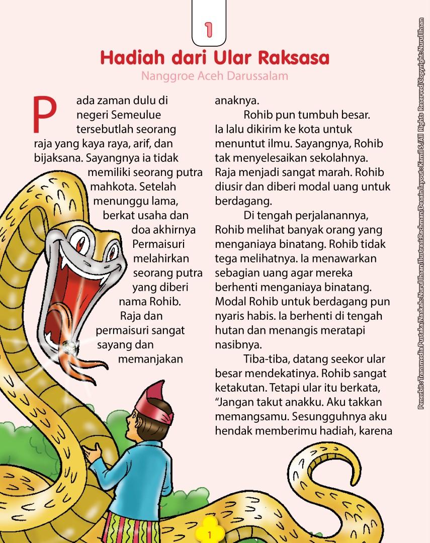 download ebook 101 dongeng nusantara, hadiah dari ular raksasa, nanggroe aceh darussalam