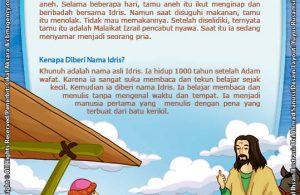ebook 25 nabi dan rasul kisah teladan dan hikmah paud tk, nabi idris