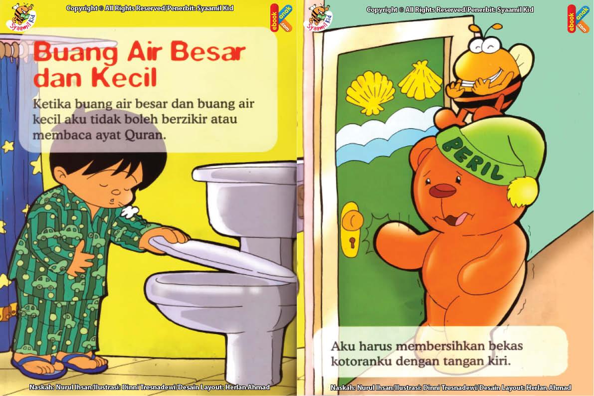 ebook seri fikih anak asyiknya aku bersuci, Apa Boleh Berzikir Ketika Buang Air Besar atau Kecil