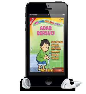 ebook seri komik adab anak muslim adab bersuci versi smartphone