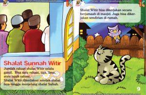 seri fiqih anak asyiknya aku shalat sunnah, Kapan Shalat Sunnah Witir Dilaksanakan