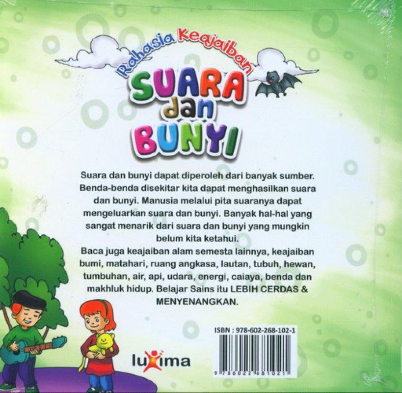 Download Ebook Seri Sains Anak Mengenal Alam Semesta Rahasia Keajaiban Suara dan Bunyi cover belakang