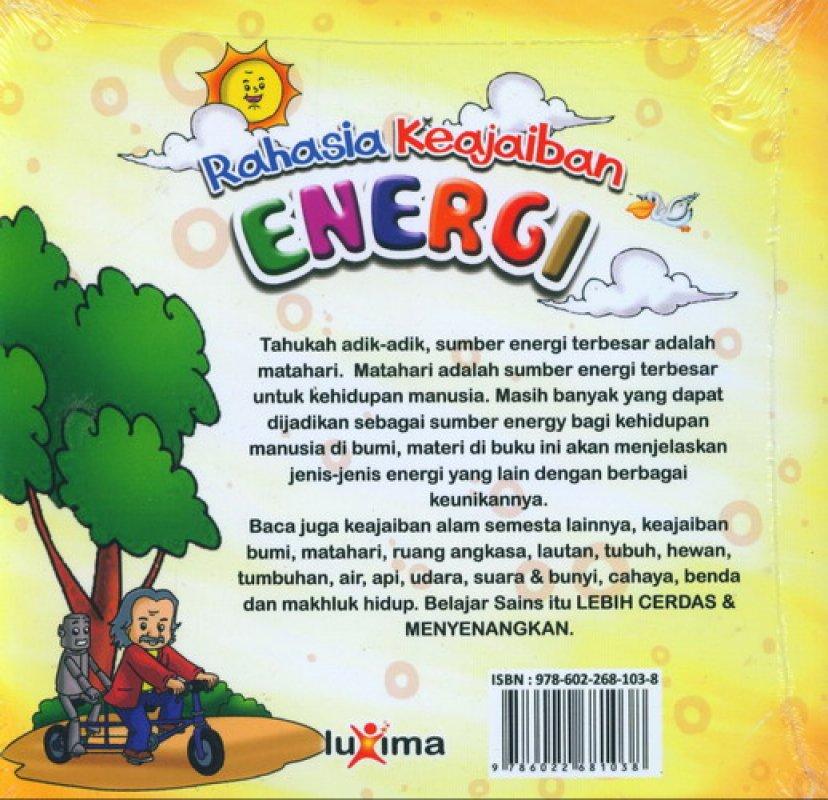 Download Ebook Seri Sains Anak Mengenal Alam Semesta Rahasia Keajaiban Energi cover belakang