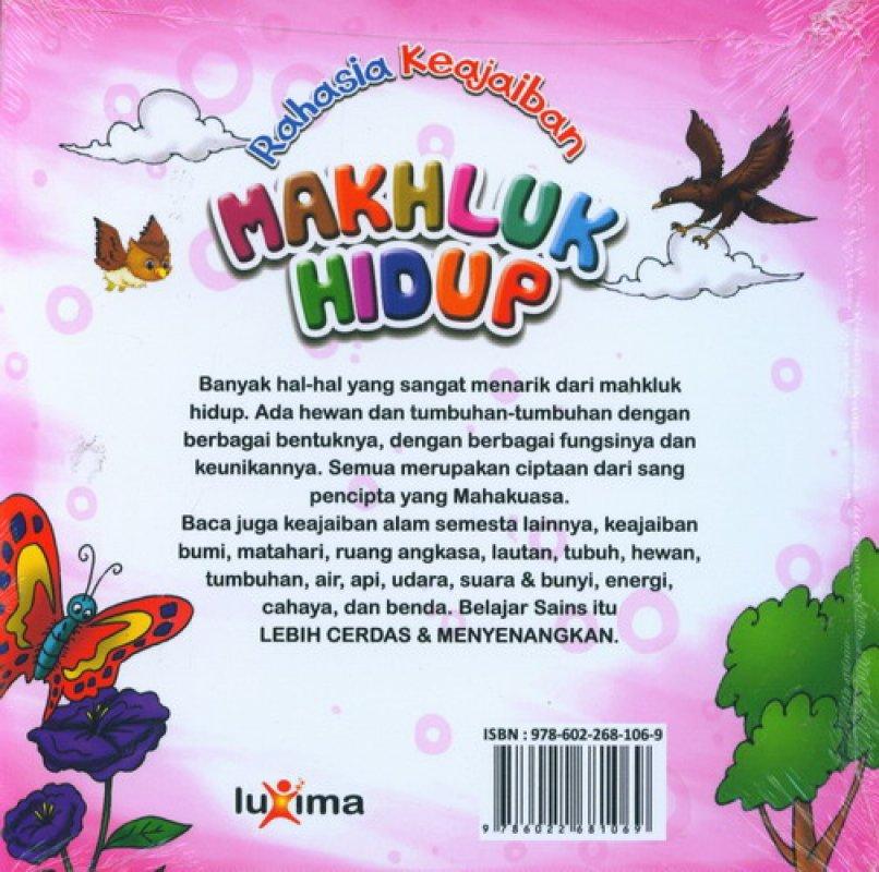 Download Ebook Seri Sains Anak Mengenal Alam Semesta Rahasia Keajaiban Makhluk Hidup cover belakang
