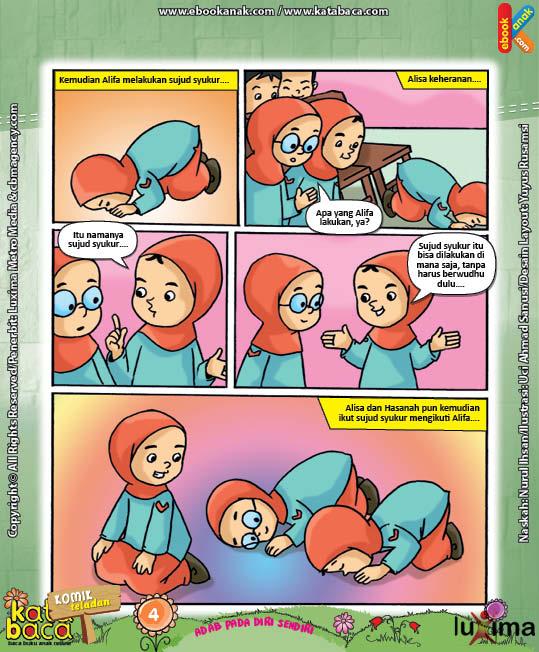 Komik 5 seri komik adab anak muslim Adab pada Diri Sendiri4