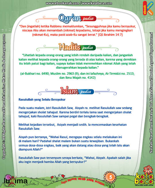 Komik 5 seri komik adab anak muslim Adab pada Diri Sendiri5