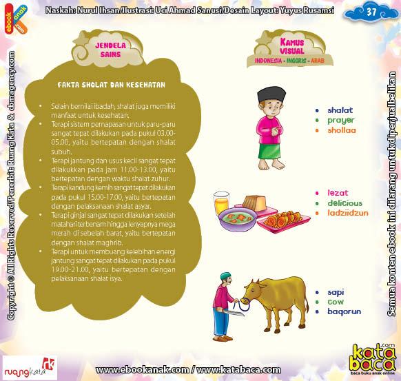 Download Ebook Juz Amma Bergambar 3 Bahasa for Kids, Fakta Shalat dan Kesehatan