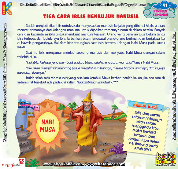 Download Ebook Juz Amma Bergambar 3 Bahasa for Kids, Tiga Cara Iblis Membujuk Manusia