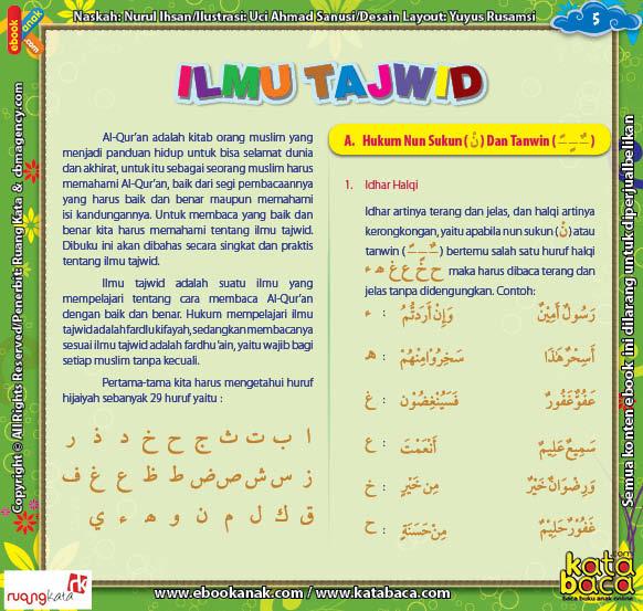 Download Ebook Juz Amma for Kids, hukum nun sukun dan tanwin