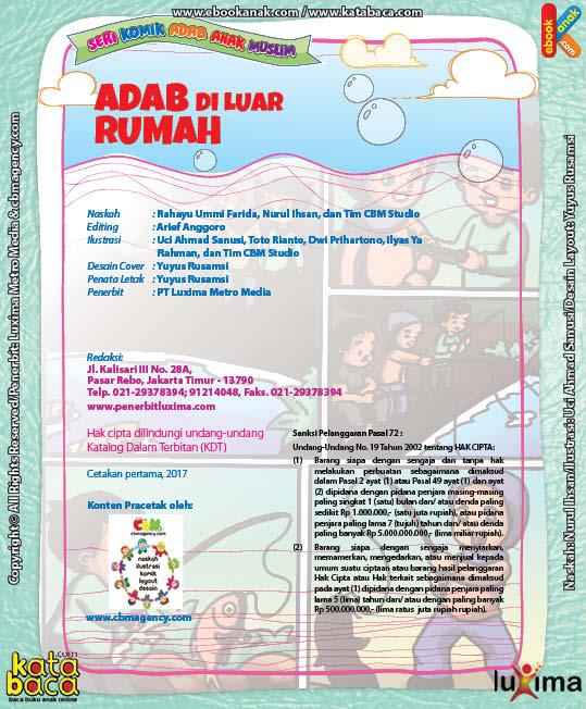 Download Ebook Komik Seri Adab Anak Muslim, Adab di Luar Rumah2