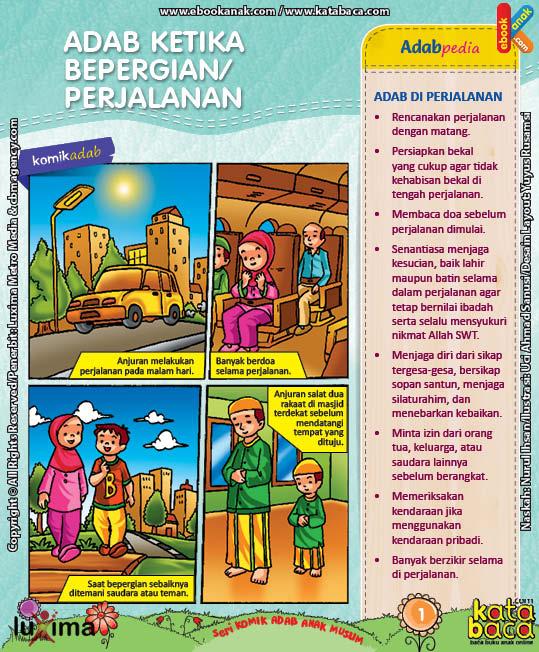 Download Ebook Komik Seri Adab Anak Muslim, Adab di Luar Rumah5