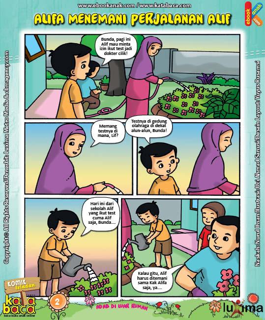 Download Ebook Komik Seri Adab Anak Muslim, Adab di Luar Rumah6