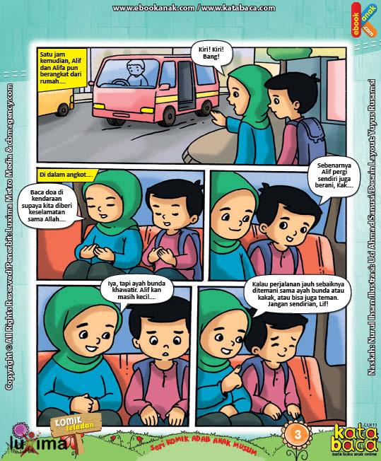 Download Ebook Komik Seri Adab Anak Muslim, Adab di Luar Rumah7