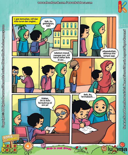 Download Ebook Komik Seri Adab Anak Muslim, Adab di Luar Rumah8