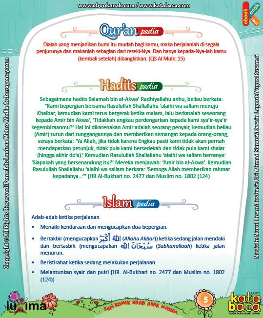 Download Ebook Komik Seri Adab Anak Muslim, Adab di Luar Rumah9