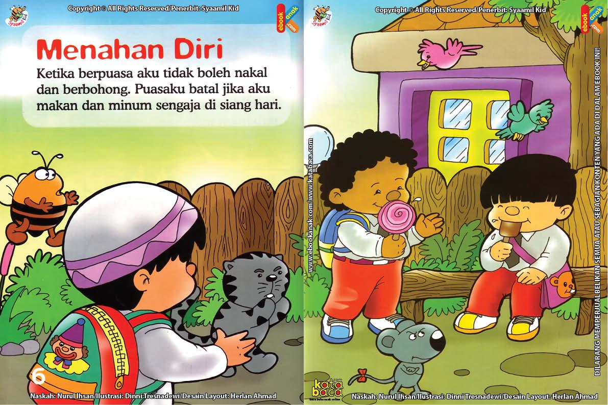 Download Ebook Seri Fikih Anak Asyiknya Aku Puasa Ramadhan, Menahan Diri