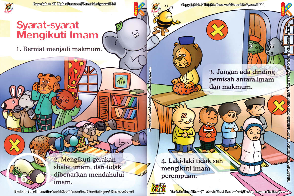Download Ebook Seri Fiqih Anak Asyiknya Aku Shalat Berjamaah, Syarat-Syarat Mengikuti Imam