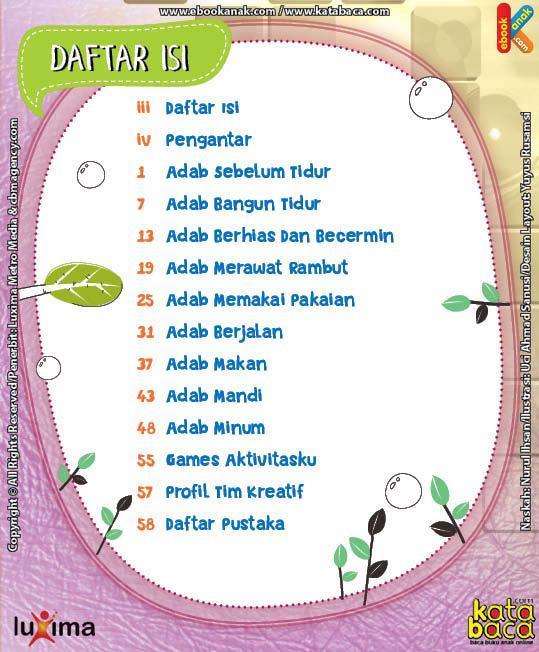 Download Ebook Seri Komik Adab Anak Muslim, Adab Harian3