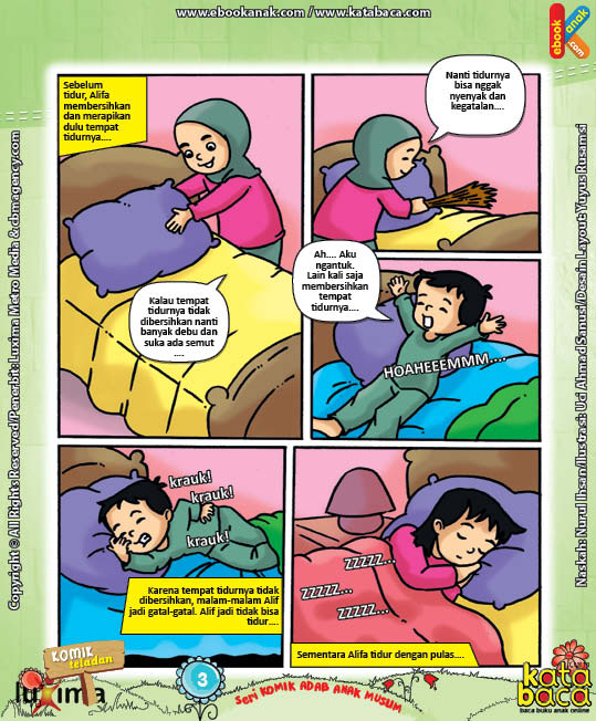 Download Ebook Seri Komik Adab Anak Muslim, Adab Harian7