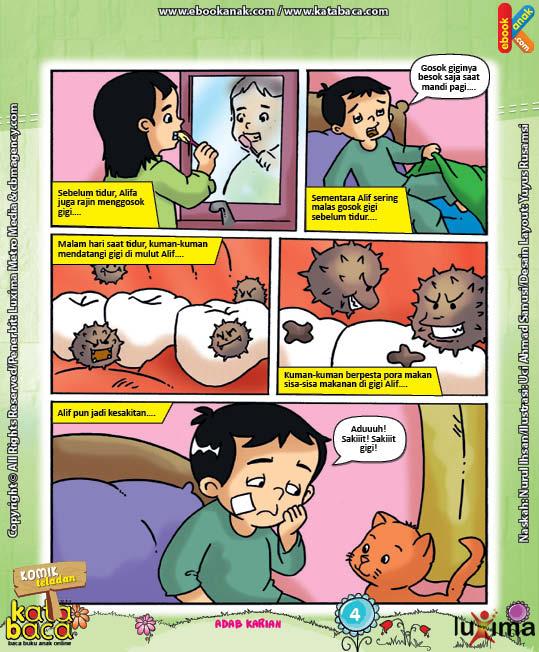 Download Ebook Seri Komik Adab Anak Muslim, Adab Harian8