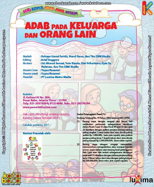 Download Ebook Seri Komik Adab Anak Muslim Adab pada Keluarga dan Orang Lain2