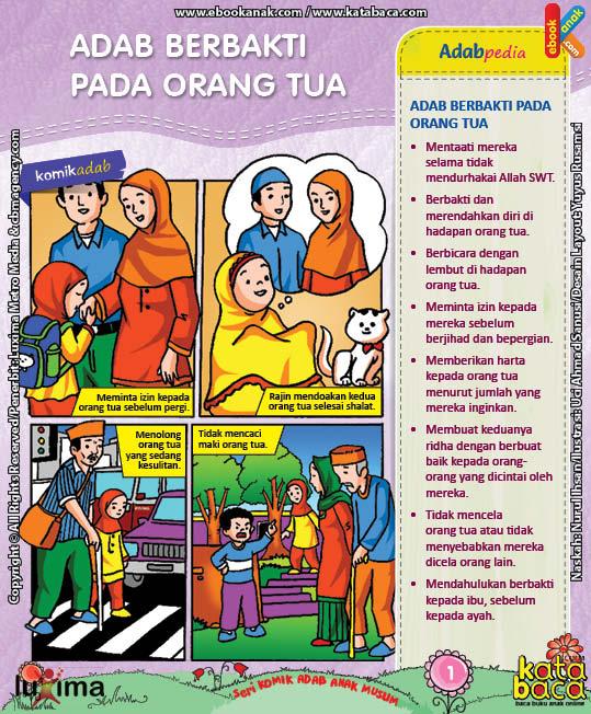 Download Ebook Seri Komik Adab Anak Muslim Adab pada Keluarga dan Orang Lain5