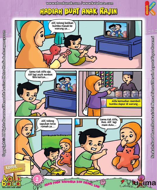 Download Ebook Seri Komik Adab Anak Muslim Adab pada Keluarga dan Orang Lain6