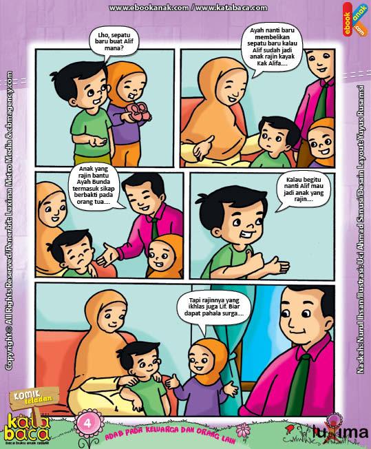 Download Ebook Seri Komik Adab Anak Muslim Adab pada Keluarga dan Orang Lain8