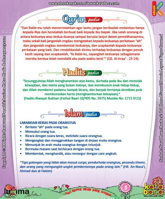 Download Ebook Seri Komik Adab Anak Muslim Adab pada Keluarga dan Orang Lain9