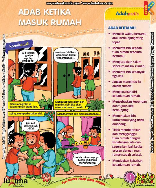 Download Ebook Seri Komik Adab Anak Muslim, Adab dalam Rumah