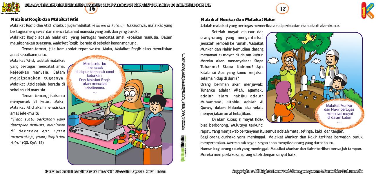 Download Ebook Seri Rukun Iman, Malaikat Roqib, Atid, Munkar, dan Nakir