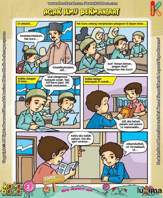 Download Eboook Komik 4, Seri Komik Adab Anak Muslim, Adab Menuntut Ilmu2