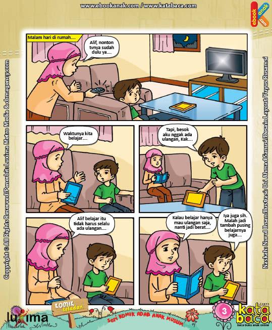 Download Eboook Komik 4, Seri Komik Adab Anak Muslim, Adab Menuntut Ilmu3