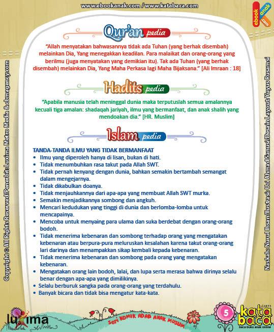 Download Eboook Komik 4, Seri Komik Adab Anak Muslim, Adab Menuntut Ilmu5