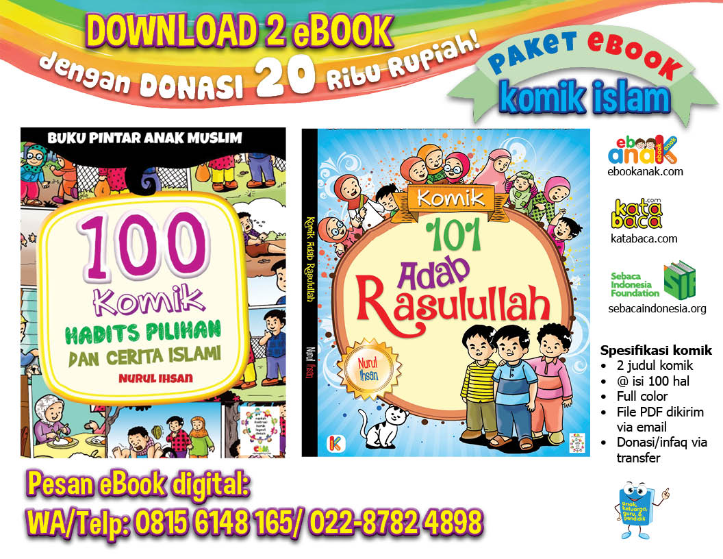 download ebook paket 2 judul komik anak islam