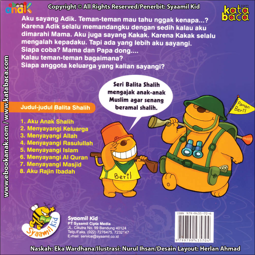 Download Ebook Cover Luar Seri Balita Shalih Menyayangi Keluarga