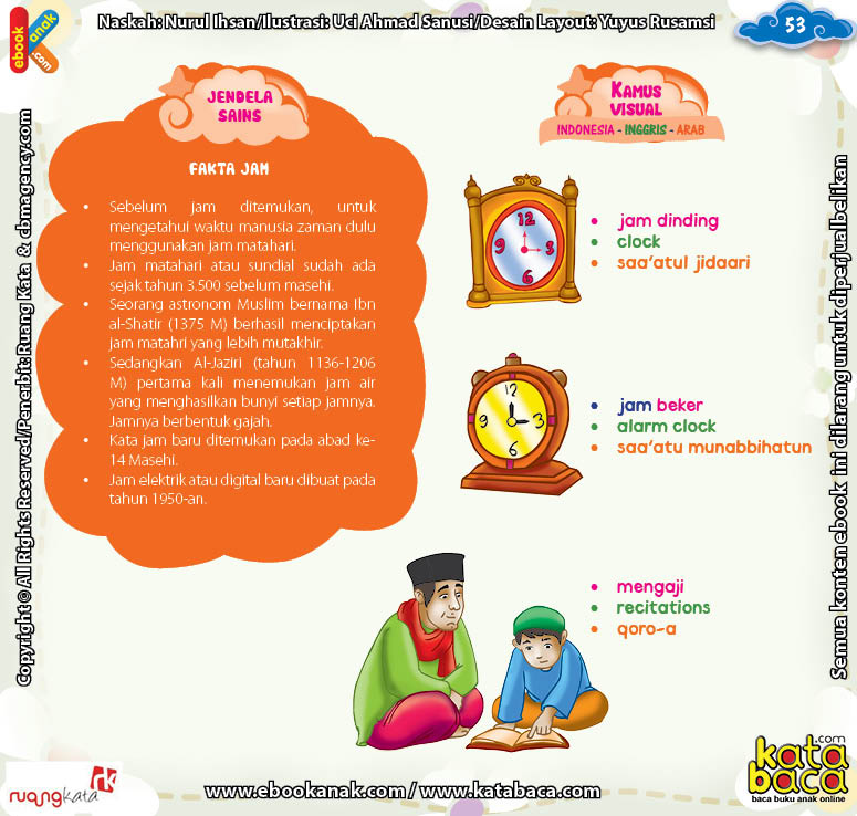 Download Ebook Juz Amma Bergambar 3 Bahasa for Kids, Fakta dan Sejarah Jam