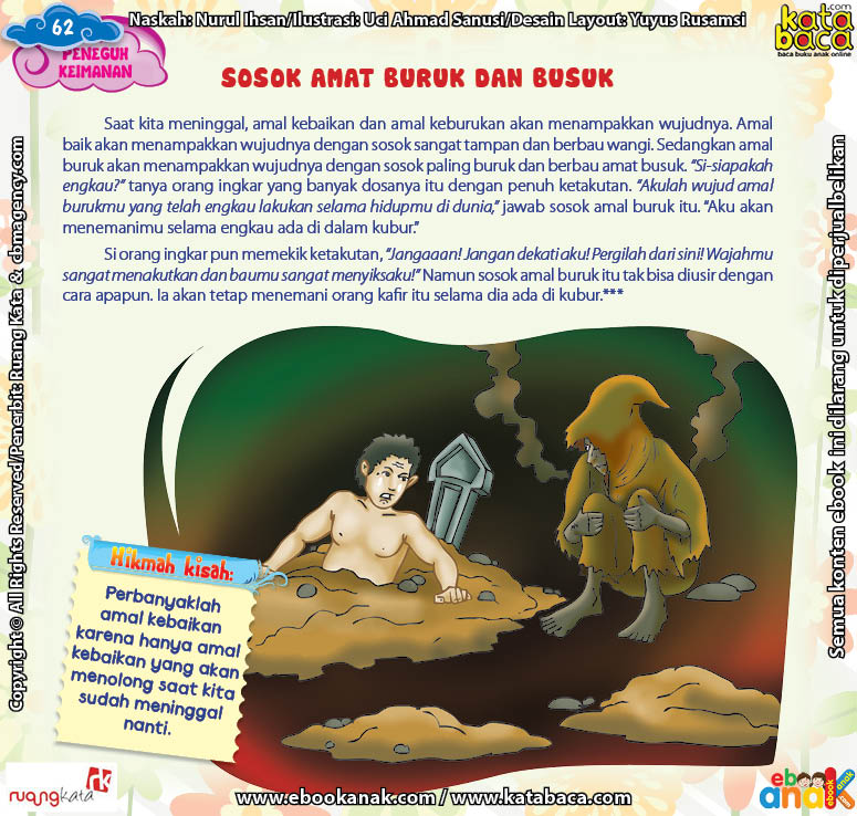 Download Ebook Juz Amma Bergambar 3 Bahasa for Kids, Kisah Peneguh Keimanan, Sosok Amat Buruk dan Busuk