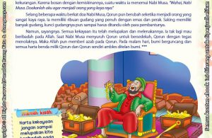 Download Ebook Juz Amma Bergambar 3 Bahasa for Kids, Peneguh Keimanan, Orang yang Ditelan Bumi