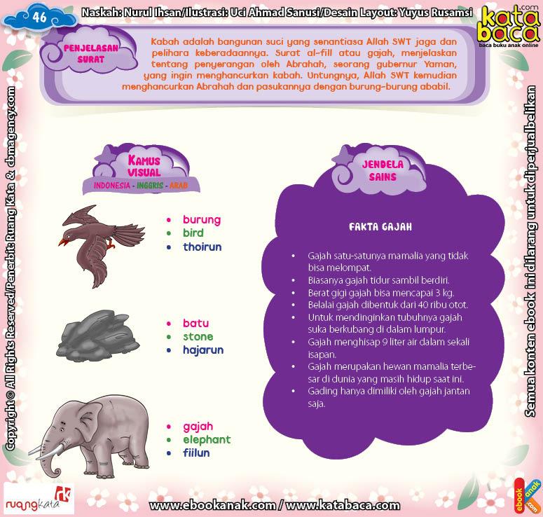 Download Ebook Juz Amma Bergambar 3 Bahasa for Kids, Penjelasan Surat Al Fiil