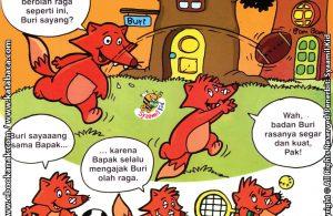 Download Ebook Seri Balita Shalih, Menyayangi Keluarga, Bapak Suka Mengajak Olahraga
