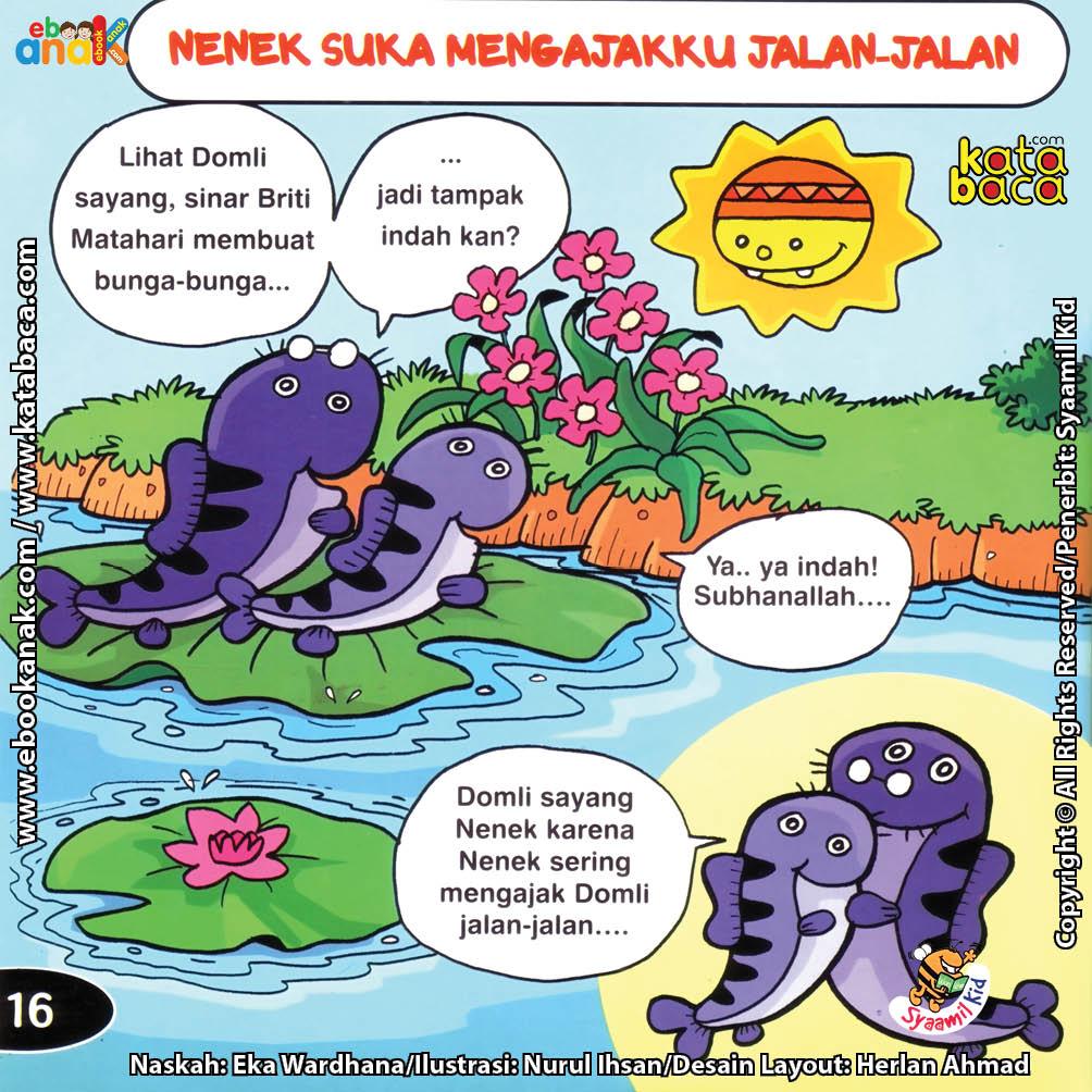 Download Ebook Seri Balita Shalih, Menyayangi Keluarga, Nenek Suka Mengajakku Jalan-Jalan