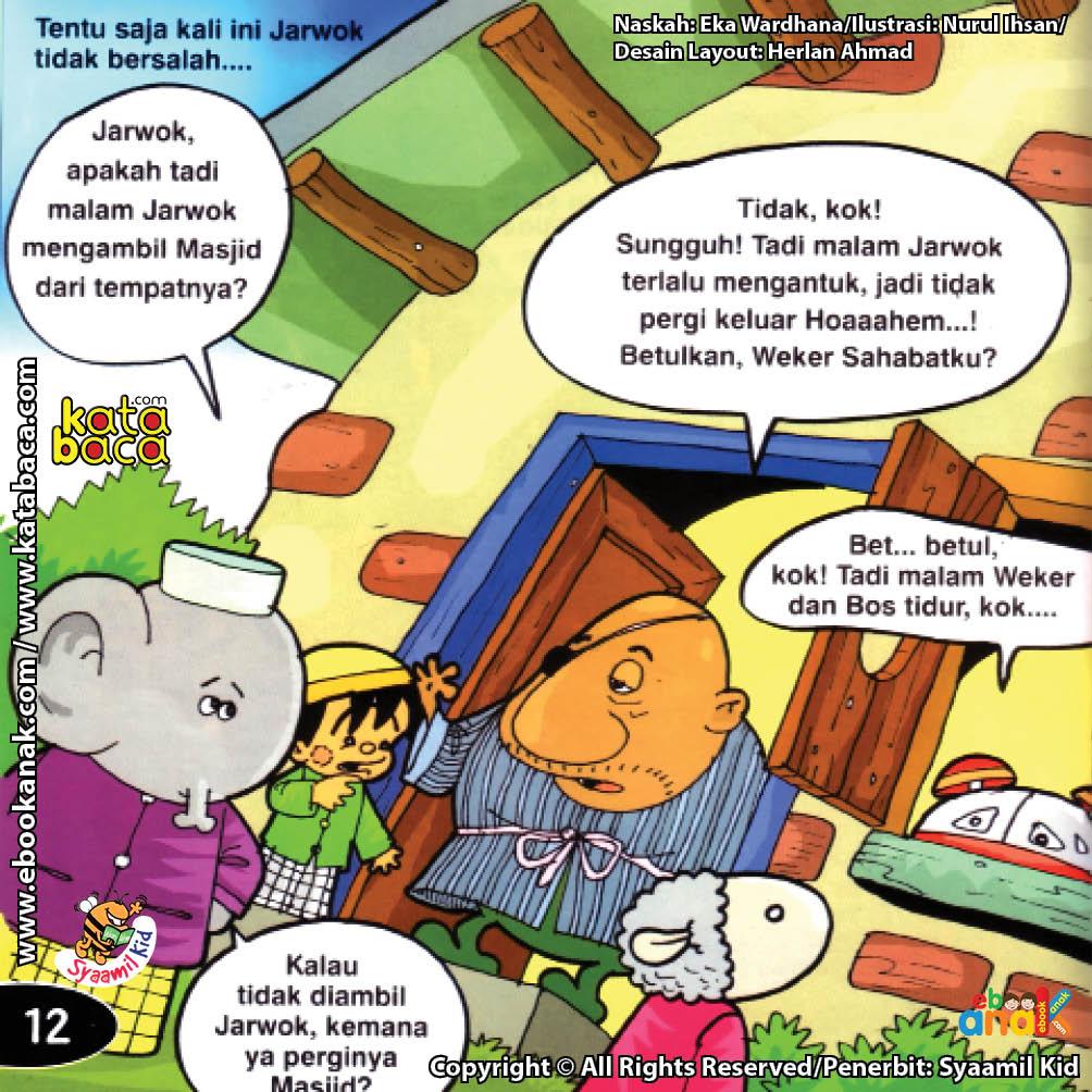 Download Ebook Seri Balita Shalih, Menyayangi Masjid, Jarwok Tidak Mencuri Masjid Desa Pelangi