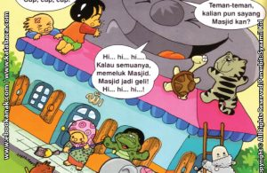 Download Ebook Seri Balita Shalih, Menyayangi Masjid, Penduduk Desa Pelangi Menyayangi Masjid