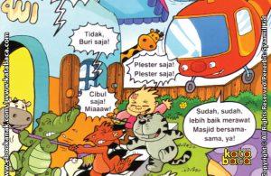 Download Ebook Seri Balita Shalih, Menyayangi Masjid, Penduduk Desa Pelangi Merawat Masjid Bersama-Sama