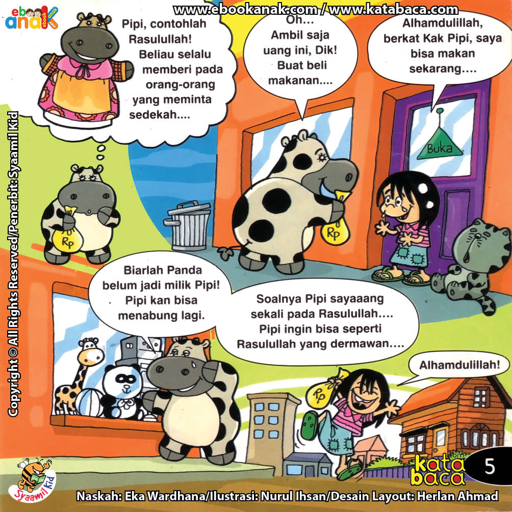 Download Ebook Seri Balita Shalih, Menyayangi Rasulullah, Pipi Sapi yang Dermawan