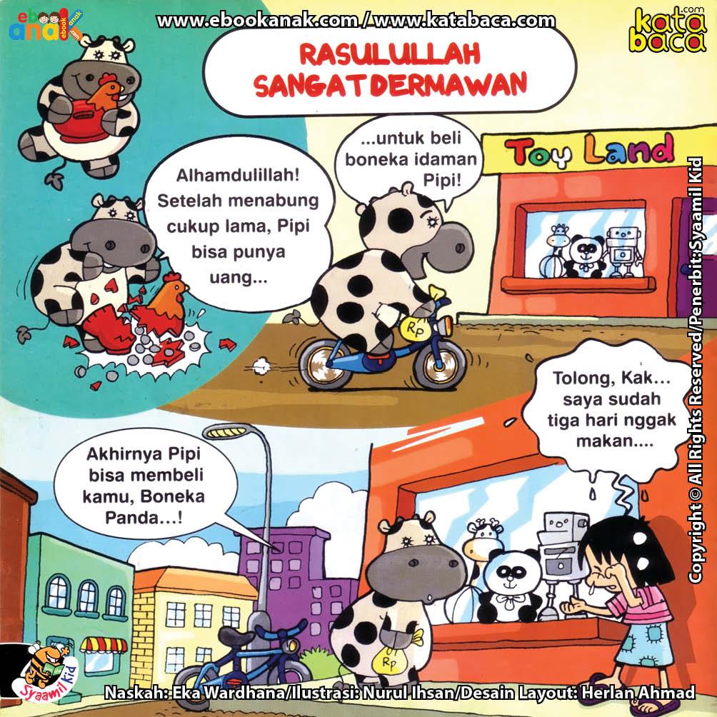 Download Ebook Seri Balita Shalih, Menyayangi Rasulullah, Rasulullah Sangat Dermawan