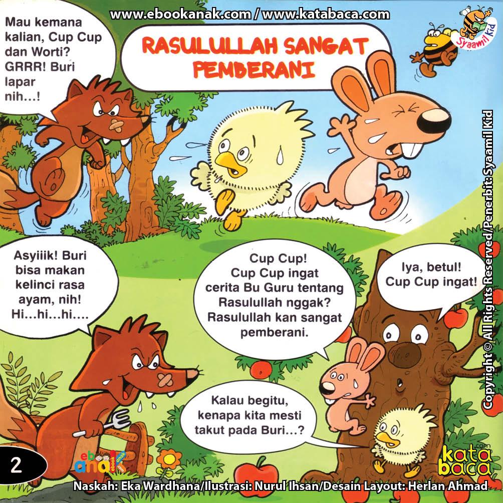 Download Ebook Seri Balita Shalih, Menyayangi Rasulullah, Rasulullah Sangat Pemberani
