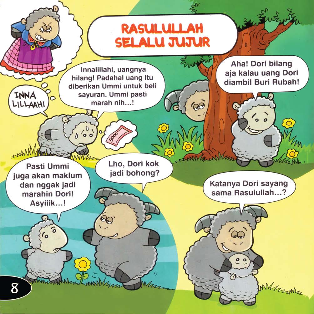 Download Ebook Seri Balita Shalih, Menyayangi Rasulullah, Rasulullah Selalu Jujur