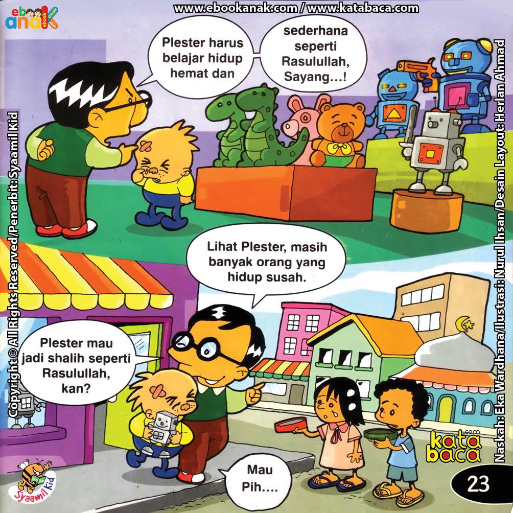 Download ebook Seri Balita Shalih, Menyayangi Rasulullah, Plester Hemat dan Sederhana